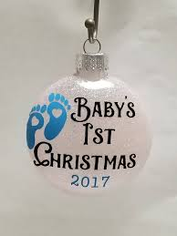 baby u0027s first christmas ornament glitter ornament baby glitter