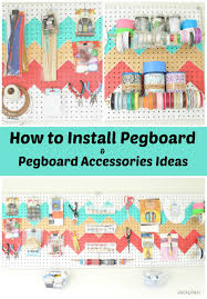 Cool Pegboard Ideas Vikalpah How To Install Pegboard And Pegboard Organizing Ideas