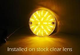 2x amber 1156 bulb 27 smd led rear turn signal light for harley