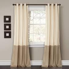Lush Decor Prima Velvet Color Block Room Darkening Window Curtain