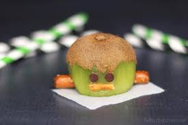 frankenstein kiwis u2013 another healthy halloween treat