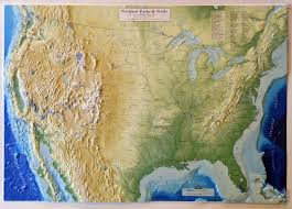 map us parks united states national parks trails raised relief map