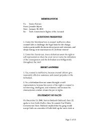writing sample memorandumlegal memo format 5 sample legal memo