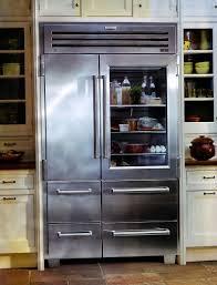 small glass door refrigerator