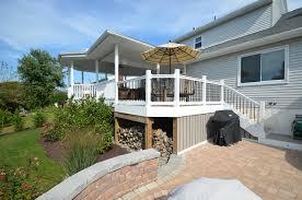 best wide walk in deck storage ideas with dark holders under