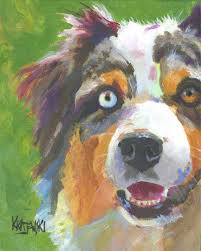 australian shepherd kidney disease australian shepherd art print of original watercolor painting