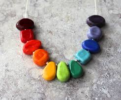 colour beads necklace images Colour wheel necklaces with mixed beads julie frahm glass jpg