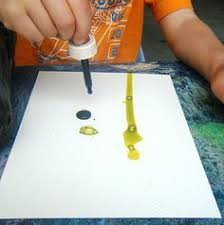 creative tots preschool mixing paint colors with rolling pins