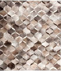 Leather Area Rug Wave Modern Leather Rug Wave Taupes