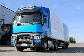 volvo truck range lieto finland april 5 2014 renault trucks presents the new