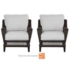 Lounge Chairs Home Depot Hampton Bay Woodbury Patio Lounge Chair With Chili Cushion 2 Pack