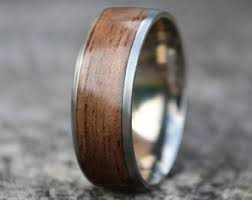 mens wooden wedding bands wood wedding band etsy