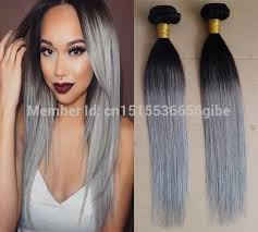 ombre extensions 2017 grey ombre hair extensions 1b grey two tone ombre