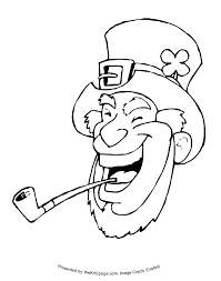 leprechaun pipe free coloring pages kids printable