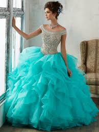 aqua blue quinceanera dresses vizcaya 89138 the shoulder gown dress promheadquarters
