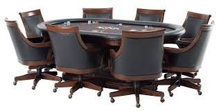 Poker Table Chairs With Casters by Poker Table And Chair Set Modern Chairs Quality Interior 2017