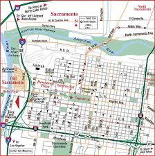 Sacramento Light Rail Schedule Road Map Of Sacramento Sacramento California Aaccessmaps Com