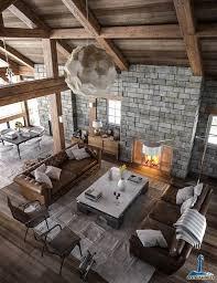 canapé style chalet salle de séjour salons moderne bois chalet canape salons