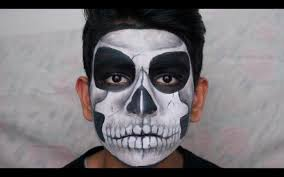 Halloween Skull Face Makeup by Halloween Skull Makeup Using Face Paint Tutorial Thuri Makeup