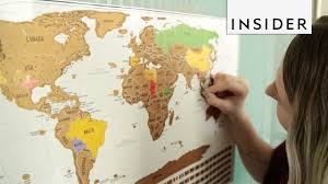 Scratch Off World Map Scratch Off Map Of The World Youtube