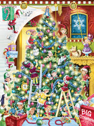 trimming the tree jigsaw puzzle puzzlewarehouse