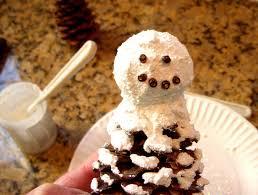 hope studios pine cone snowman ornament