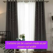 Curtain Width Per Curtain Grey Gray Twinkle Stars Kids Bedroom Grommet Window Curtain Fabric