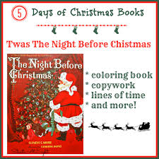 5 days of christmas books twas the night before christmas