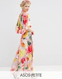 asos petite asos petite wedding pleated maxi dress with drape
