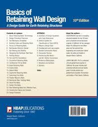 basics of retaining wall design 10th edition mr hugh brooks mr