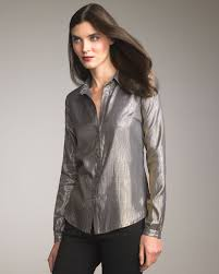 metallic blouse lyst elizabeth and metallic blouse in metallic