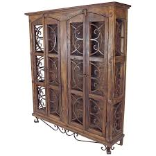 display china cabinets furniture rustic old wood and iron display cabinet