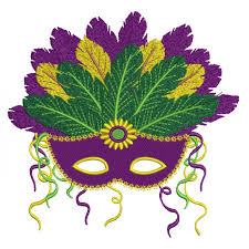 mardi gras mask mardi gras mask with gorgeous feathers filled machine embroidery