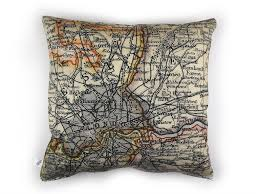 Map Fabric Antique London Map Cushion U2013 Max U0026 Rosie