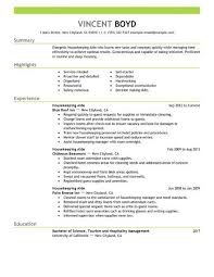 Housekeeper Resume Sample by Sample Resume Of Hotel Housekeeping Supervisor Templates