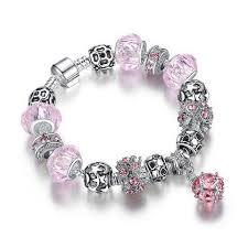 crystal charm bracelet beads images Women 39 s crystal charm bracelets dym movement jpg