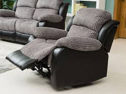 Electric Recliner Armchair New California 1 Seat Jumbo Cord Faux Leather Electric Recliner
