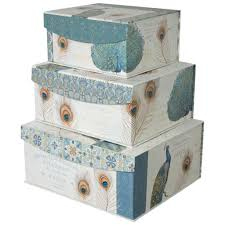 Decoration Storage Containers Decorative Storage Organizer Boxes With Magnetic Sealable Lids Set