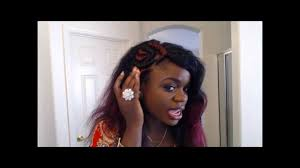 ghanians hairstyle side cornrows banana ghanian braids with weave youtube