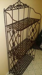 pier 1 import wrought iron folding bakers rack