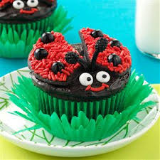 lady bug chocolate cupcakes recipe taste of home