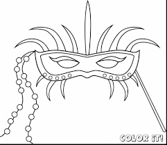 unbelievable mardi gras mask coloring pages with carnival coloring