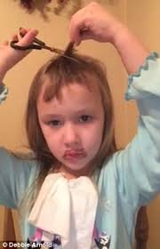 Young Girl Meme - video shows young girl attempting to cut her own hair for a makeover