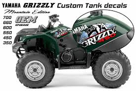 yamaha grizzly oem atv tank decal graphic sticker kit 350 450 550