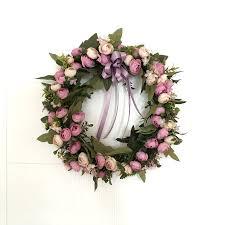 home decoration flowers aliexpress com buy heart shape rose garland door decoration