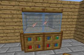 Minecraft How To Make A Furniture by How To Make A Fish Tank In Minecraft Updated Youtube