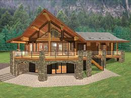 simple mountain house plans with walkout basement excellent home