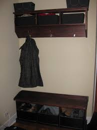 entryway storage bench with coat rack hooks best entryway