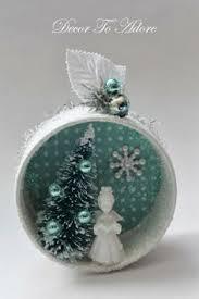 egg snowman ornament blue silver goose by eggshells