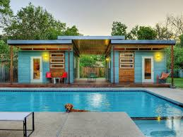 prefab guest house a maxwell unit converted into a backyard